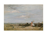 A Beach Scene at Trouville  1860s