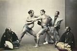 Sumotori or Wrestlers  C1870-1880