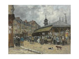 Market at Trouville; Marche a Trouville  1878