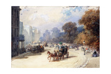 A Carriage at Hyde Park Corner  London  (Pencil  W/C  Bodycolour Heightened with White)