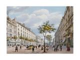 The Boulevard Des Italiens  C1840