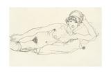Reclining Nude; Liegender Akt  1914
