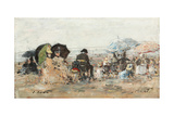 Trouville  Beach Scene; Trouville  Scene De Plage  1886