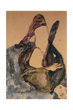 Woman with Raised Leg and Purple Stockings; Frau Mit Erhobenem Bein Und Lila Strumpfen