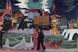 View of Basel and the Rhine  1927-28