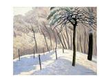 Snowy Landscape in Bois De Boulogne; Paysage De Neige Au Bois De Boulogne  1905