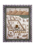 Kaaba  Muhammad's Tomb in Mecca from Volume by Emile Prisse D'Avennes (1807-1879)