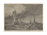 French Lugger Running into Calais