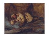 A Laplander Asleep by a Fire