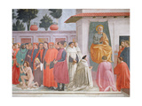 Raising of the Son of Theophilus and St Peter Enthroned