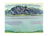 Lake Thun and the Stockhorn Mountains  1910