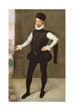 Full Length Portrait of a Gentleman in a Black Doublet