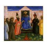 The Trial by Fire of St Francis before the Sultan  C1435-40