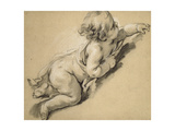 A Putto Reclining to Right