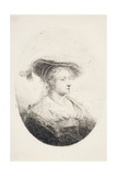 Young Lady with Plumed Hat  1644
