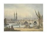 London Bridge and the Monument  C1795