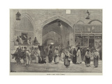 Sketches in Persia  Bazaar at Teheran
