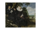 Portrait of a Couple  Probably Isaac Abrahamsz Massa and Beatrix Van Der Laen  C1622