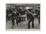 Fun in the Dinner-Hour on a Battleship  Ping-Pong on the Lower Deck