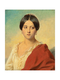 Portrait of an Italian Girl  Half Length  C1834