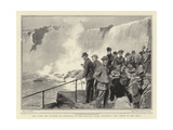 The Duke and Duchess of Cornwall at the Niagara Falls  Watching the Child of the Mist