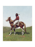 Comanche Brave  Fort Reno  Indian Territory