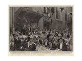 The Lord Mayor's Banquet at the Guildhall