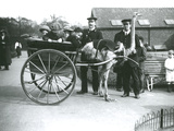 An Ostrich Cart Ride with Children and Keepers George Blore and William Dexter at London Zoo