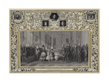 Her Majesty the Queen Receiving King Louis Philippe in Windsor Castle  8 October 1844