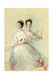 Portrait of Czarina Maria Feodorovna and Her Sister Alexandra