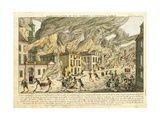 View of New York During the Great Fire of 1776; Representation Du Fue Terrible a Nouvelle York