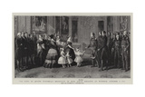 The King at Queen Victoria's Reception of King Louis Philippe at Windsor  8 October 1844