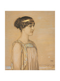 Portrait of Mary in Greek Costume  1910 (Pencil and Chalk on Cardboard)