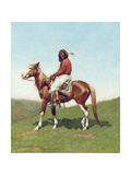 Comanche Brave  Fort Reno  Indian Territory  1888