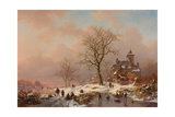 Winter Landscape with Figures Playing on the Ice  1868