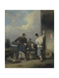 Coolies Round the Food Vendor's Stall  after 1825
