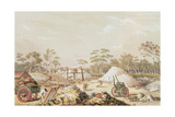 Kapunda Coppermine from the 'South Australia Illustrated'  C1846