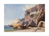 The Capuchin Monastery at Amalfi from the Beach