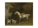 Huntsman with a Grey Hunter and Two Foxhounds: Details from the Goodwood 'Hunting' Picture