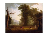 Landscape with Cattle  1846