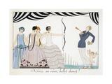 Visez Au Coeur  Belles Dames!  by H Reidel  1924 (Pochoir Print)