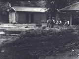 Beaver Lodge with Keepers in Background  London Zoo  July 1916