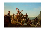 Jolly Flatboatmen in Port  1857