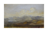 The Carrara Mountains from Pisa  1845 - 1846