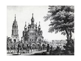Church of Assumption and Gagarin Palace in Moscow by Giacomo Quarenghi Domenico (1744-1817)