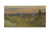 View of Monte Amiata  Tuscany  C1880