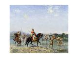 Arab Cavalry Fording a Stream