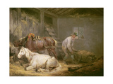 Horses in a Stable  1791