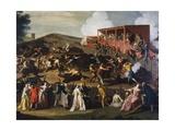 Buffalo Market in Maccarese  Ca 1755