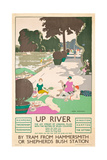 Up River  a London Transport Poster  1926